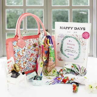Goody Bag-Stephy Fruit Lady Print Tote + Scarf Limited Surprise Lucky Bag S-SET050