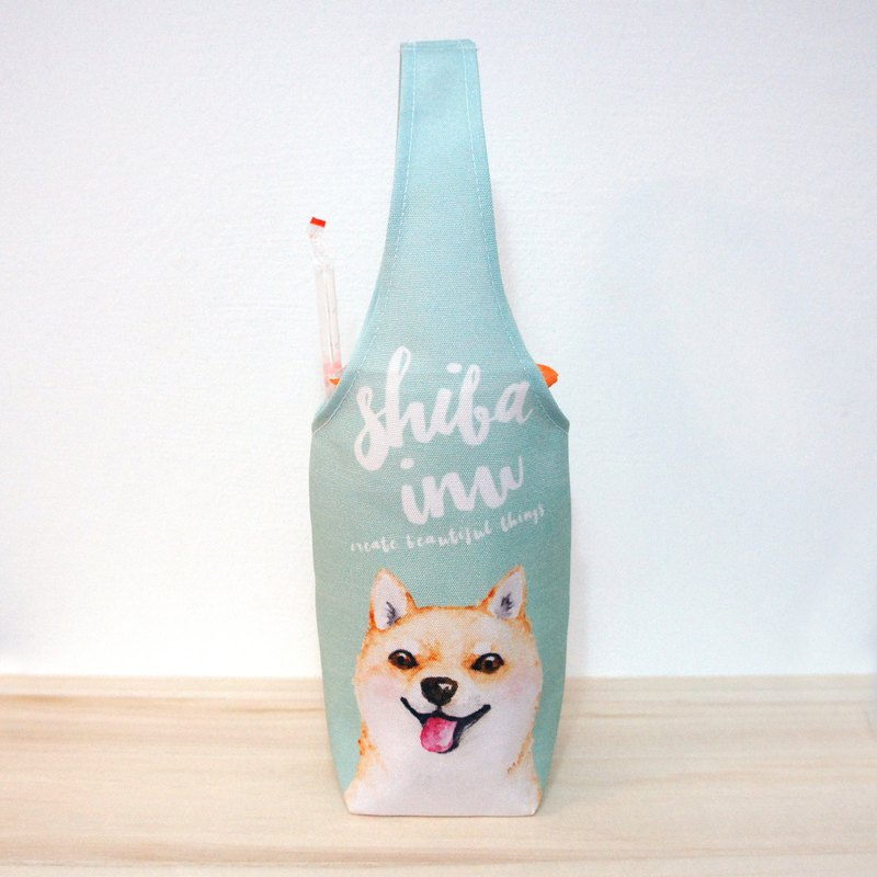 Shiba Dog Cup Set Eco-friendly Beverage Bag Beverage Bag Beverage Cup Set Waterproof Cup Set Waterproof Bag
