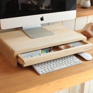 Pre-ordered - 原 type log screen rack - drawer type (public version 4) / keyboard stand / small shelf