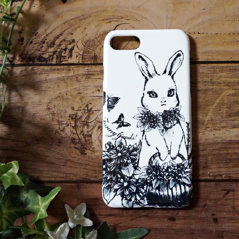 Ballpoint pen Handwriting rabbit iphone case smart phone case monotone