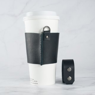 ACCESSORIES leather drink cup bag (gun black buckle)