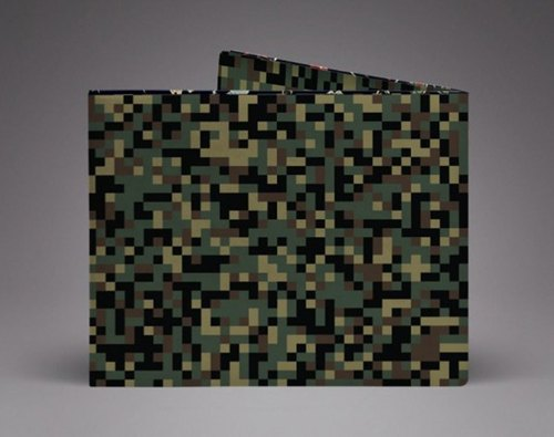 Supervek assault camouflage hand-made paper wallet / wallet / short clip Tyvek environmental protection material waterproof tear