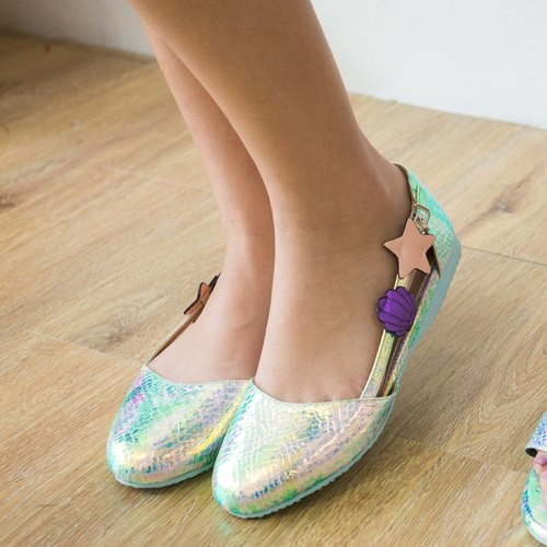 Mermaid Ballet Rubber Sole Shoe