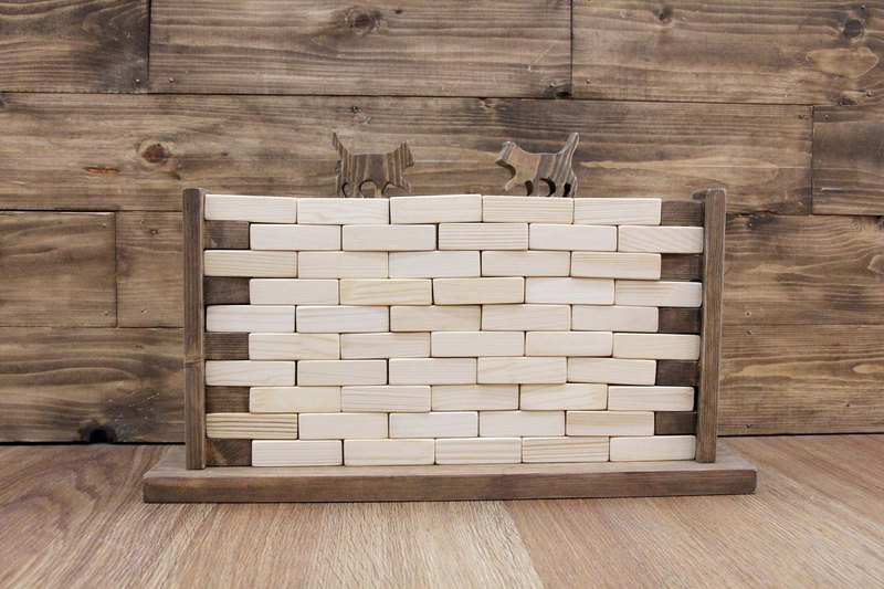 Log tall wall stacked blocks modeling blocks puzzle game fun game