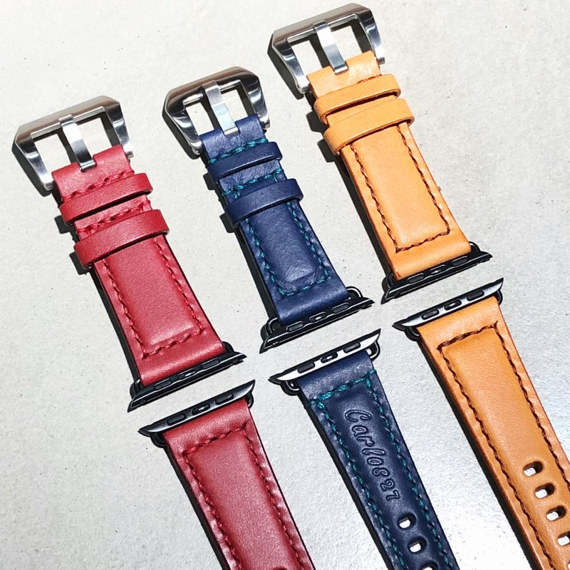 Apple Watch straps well stitched leather material bag couple Italian leather vegetable tanned leather