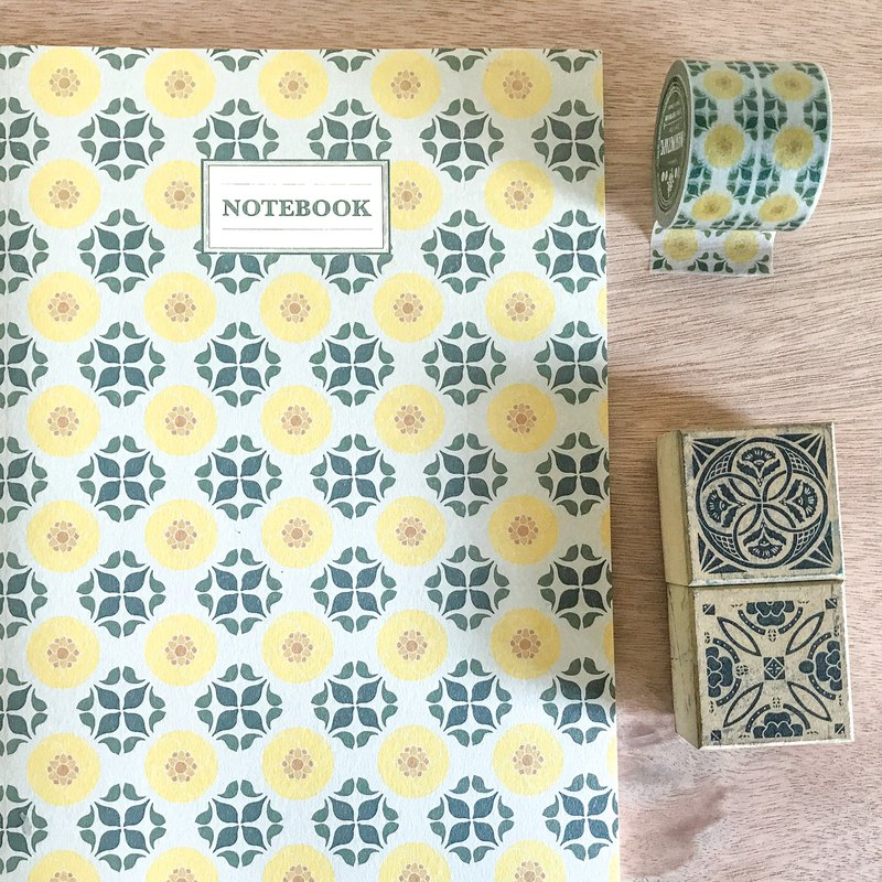 {Elegant bloom} tile blank notebook [curl force card QUEMOLICA]
