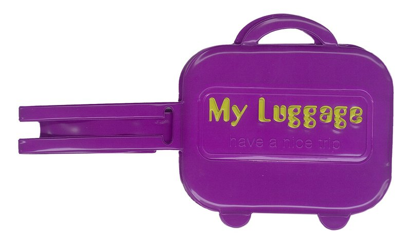 Alfalfa My luggage Luggage tag(Purple)
