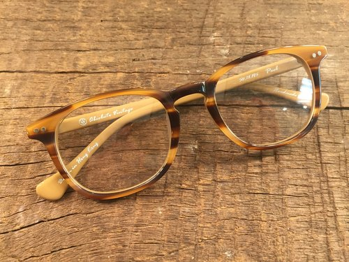 Absolute Vintage - Peel Street (Peel Street) pear-shaped plate frame glasses Young - Brown Brown
