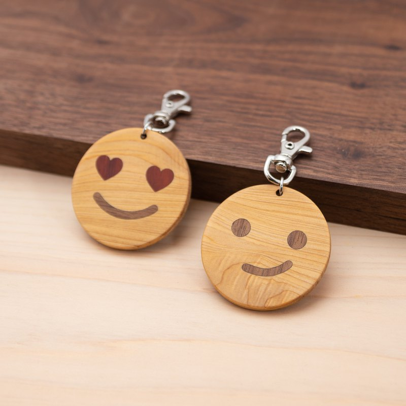 Solid wood leisure card / one card chip charm | Emoji package series