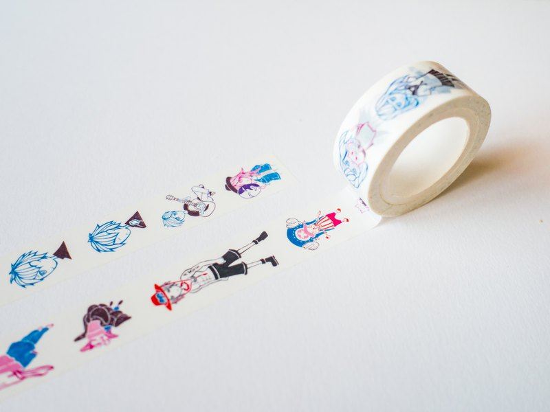 Bedi character illustration paper tape II