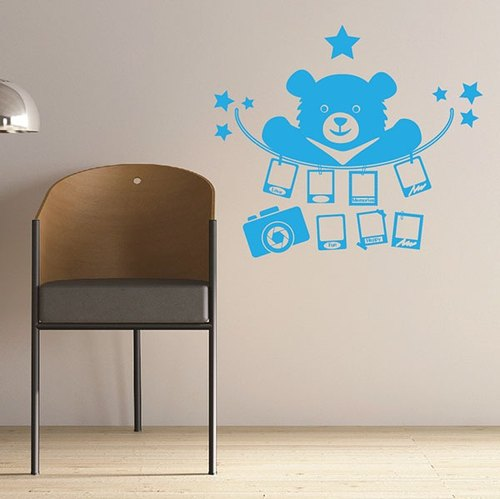 Smart Design Creative wall stickers Incognito ◆ Bear memories (8 colors optional)
