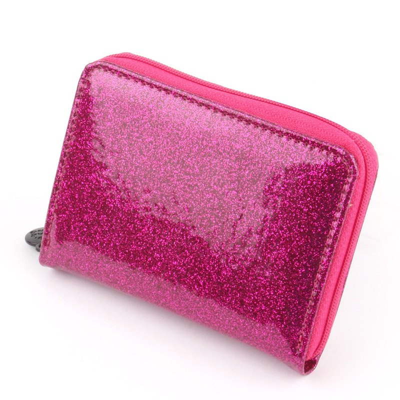 Korea Socharming-Glittering purse Accordion Purse-Pink