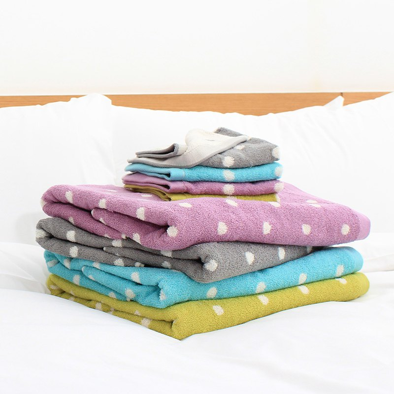Lovel patent coffee yarn deodorant anti-UV dot towel / towel / square towel mix and match combination - a total of 4 colors