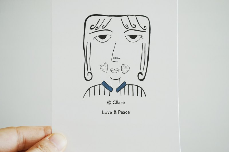 Friendship/ Love with Peace Postcard/ Card