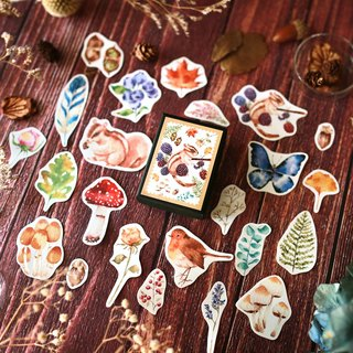 Collection of stickers in autumn