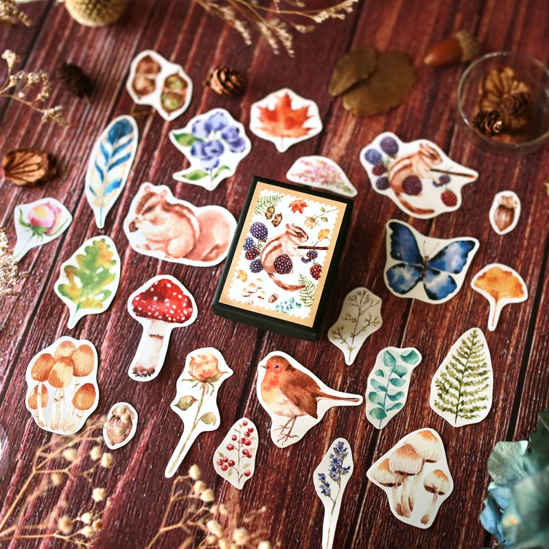 Autumn collection sticker box