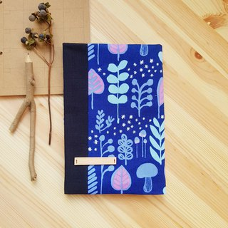 Fairy blue purple in the forest of A5/25K adjustable cloth book