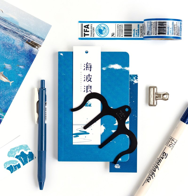 Sea waves ocean impression bookmarks seaside shadow