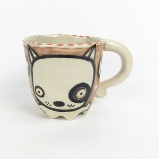 Nice Little Clay Eight-legged Mug Black Wheel Dog 0107-03