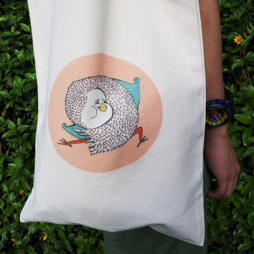 GGdove | Ge Ge | illustration design | heavy canvas shoulder bag