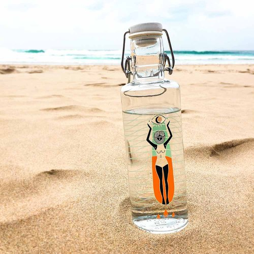 [Pre-order] soul glass water bottle 600ml / summer long