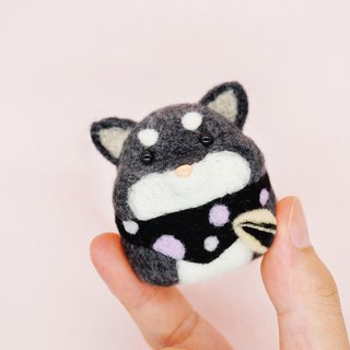 Wool felt medlar hamster baby home decoration key ring pin car decoration desk surface small things