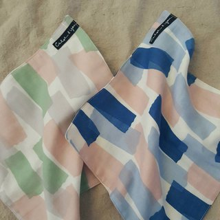 Double yarn handkerchief (color block)