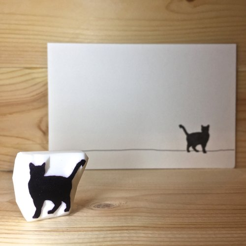 Handmade stamp with postcard(Cat ver.A)