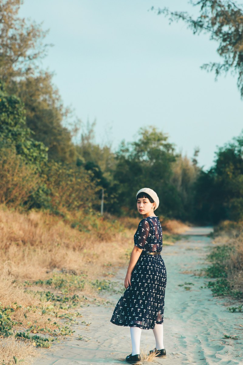 Awhile moment | Vintage five-point sleeve dress no.14