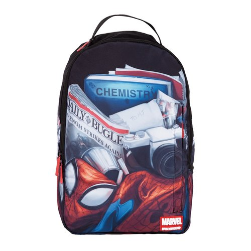 [SPRAYGROUND] DLX MARVEL Joint Series Day In The Life Of Pete Peter Parker's Daily Trends Backpack