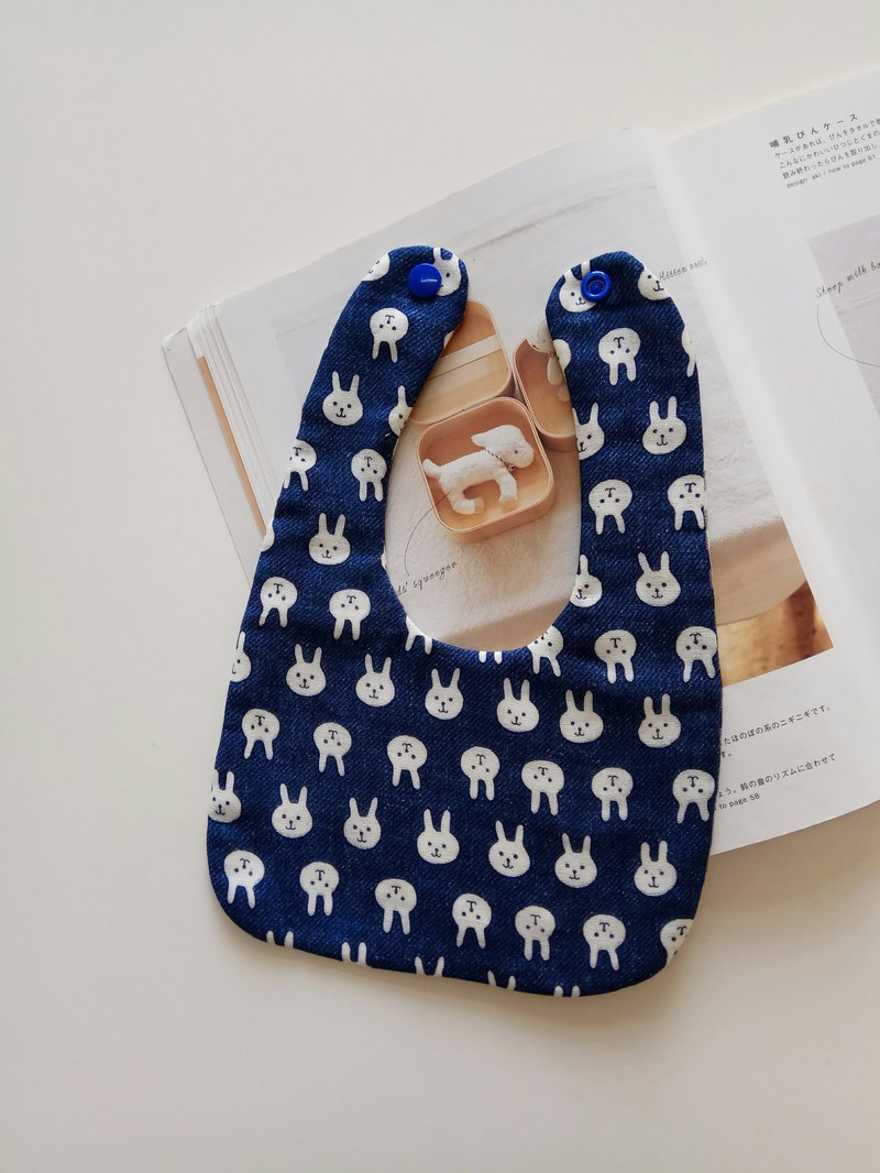 Full version of rabbit cotton yarn bib bimonthly gift bib baby bib baby bib saliva towel