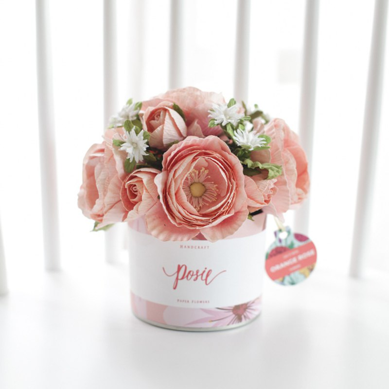 SWEET PEACH Aromatic Medium Gift Box Handmade Paper Flowers