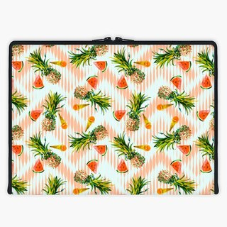 Axis - Custom 3-Sided Zipper Laptop Sleeve - Pattern pineapples