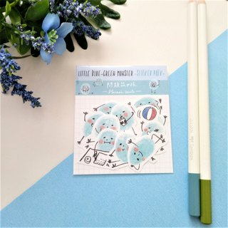 Little Blue-green Monster Sticker Pack