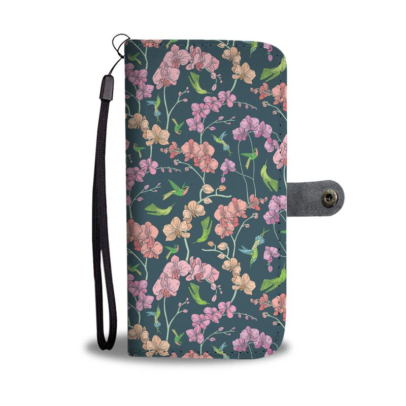 Moth Orchids Premium Wallet Phone Case