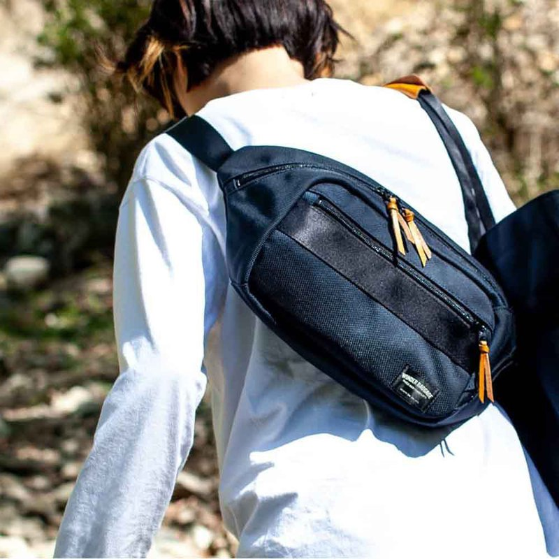 Japanese-style water-repellent nylon side back/waist bag Made in Japan by Wonder Baggage