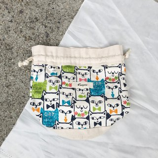 Square Cats / Japanese Cotton print / Shoulder bag  crossbodies  bucket bag