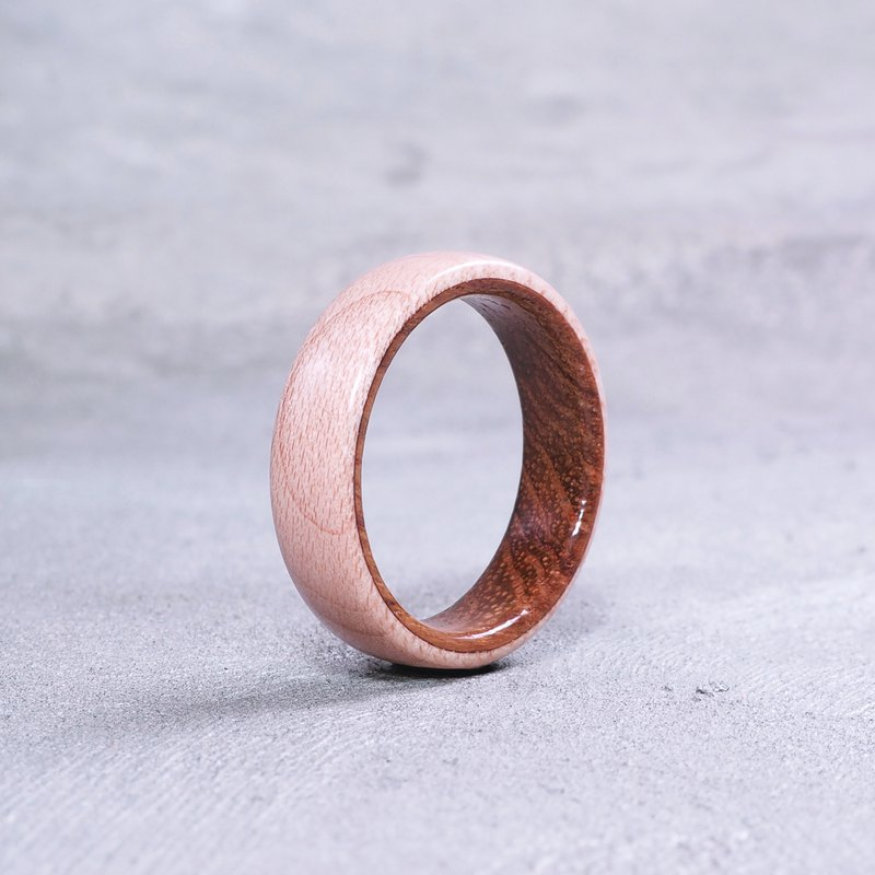 Classic wooden ring Maple x Teak