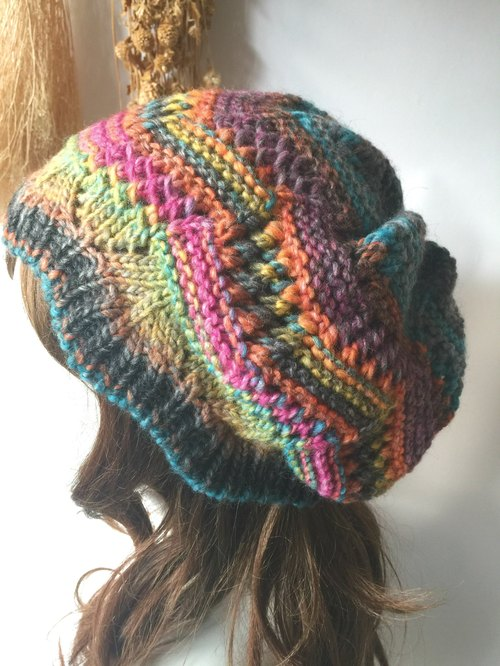 What size do you want to warm knit hat warm sun color