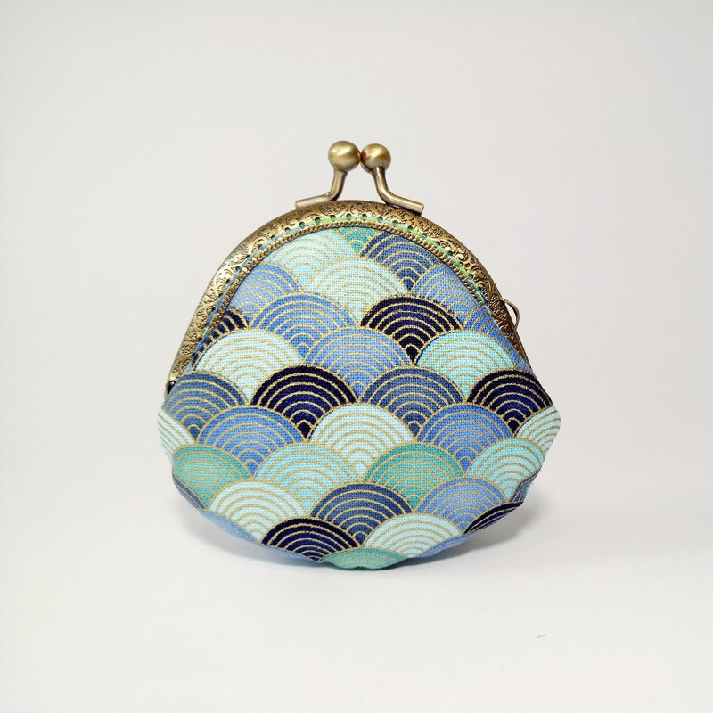 [Beautiful Cloud - Blue] mouth gold bag purse clutch bag Christmas exchange gift New Year gift