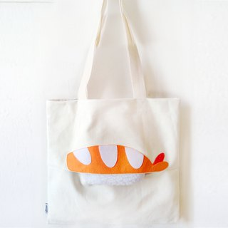 Shrimp Sushi, Tote bag - handmade