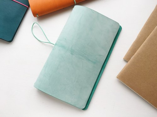 Faded Mint - Regular size Traveler's Notebook // Vegetable Tanned Leather