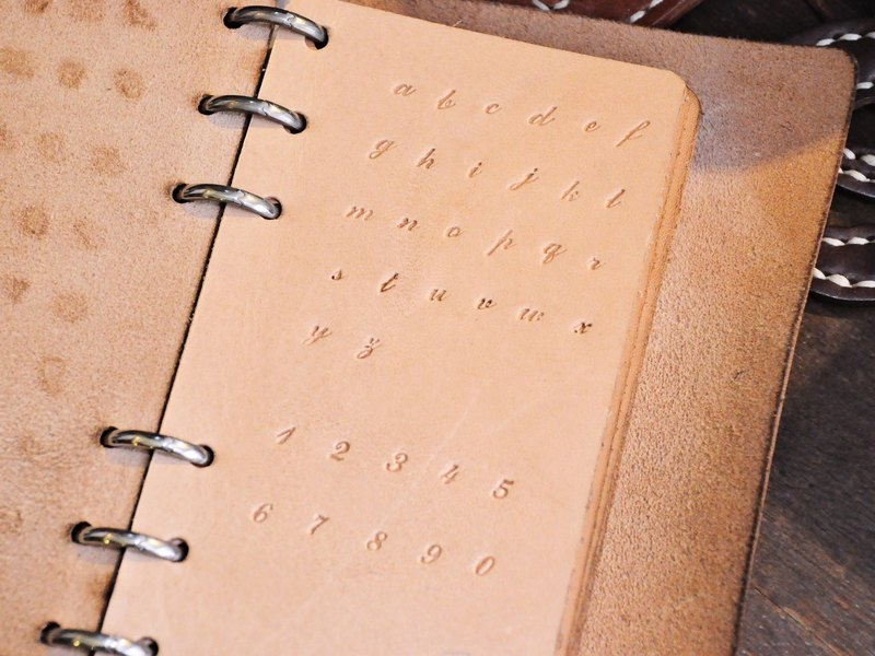 Even classic digital imprint set scribble lower case (gift box) embossing die letters personalized leather embossed lettering leather DIY
