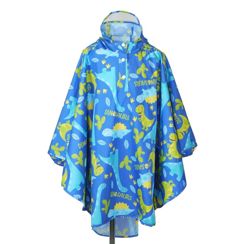 Waterproof and breathable printed children's raincoat <Dinosaur Park>