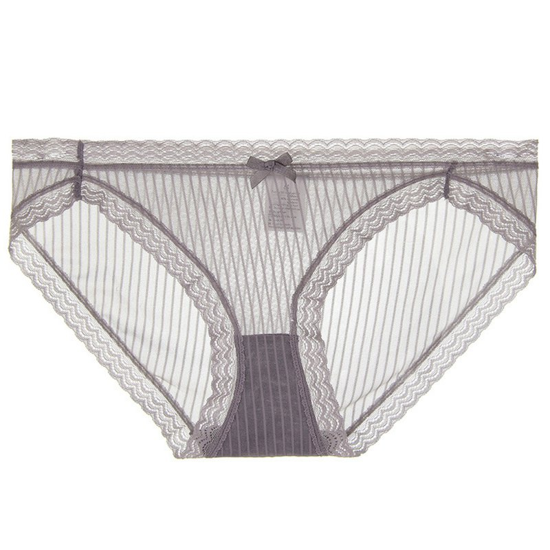 Sheath mesh sexy panties/gray
