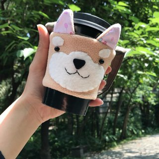 Shiba Dog Cup Set. Beverage Cup Set. Bag