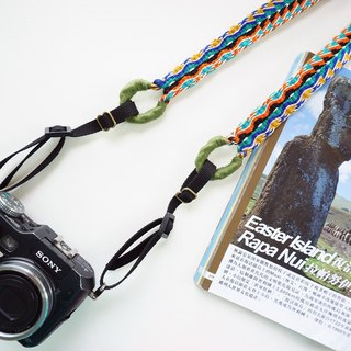 Camera Strap Double Wide Hole Handmade Woven Ribbon