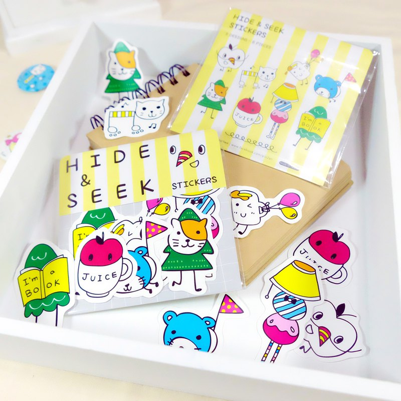 Hide and Seek Party Waterproof Stickers