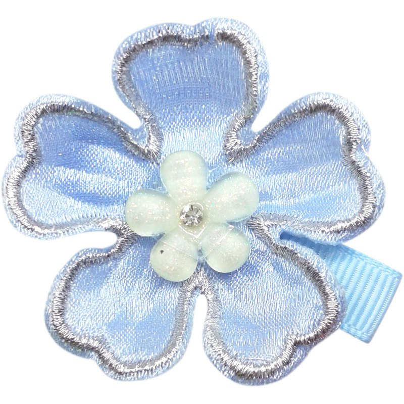 Cherry flower hair clip all-inclusive cloth handmade hair accessories Cherry Flower-Sky