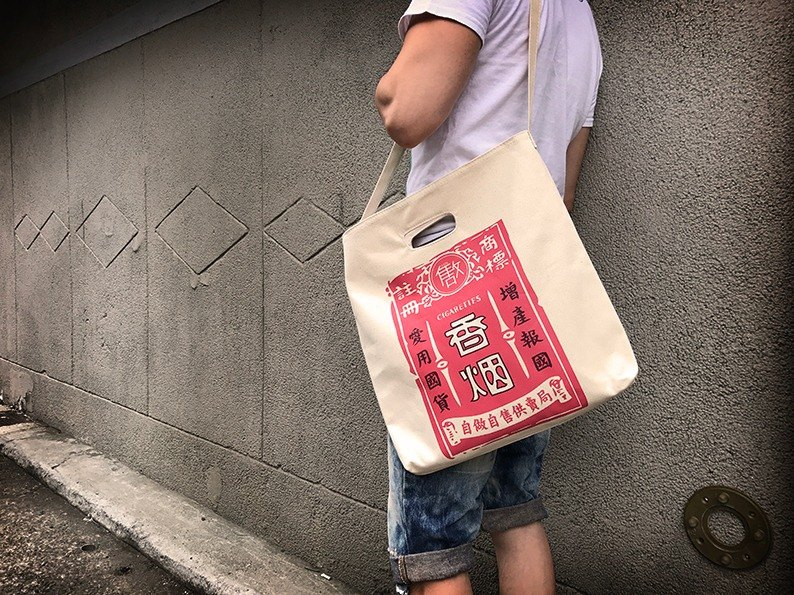 2017 ultra-wearable high-pound canvas blue bag ~ cigarettes